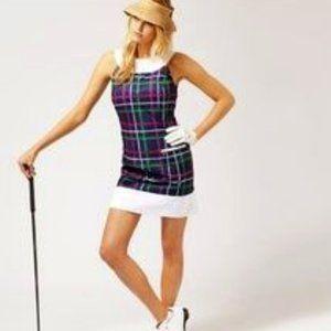 Fairway Fox Purple & White Check Cool Max Dress 8